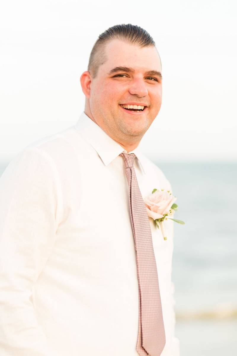 Outer Banks Wedding Groom Laughing